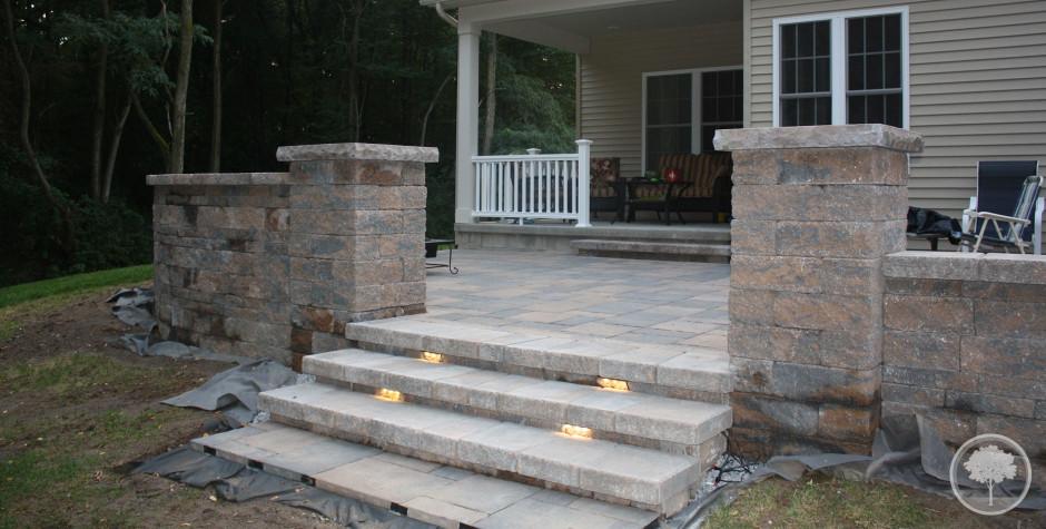 Lashomb Lawn Amp Landscape Patio Steps Lighting Walls